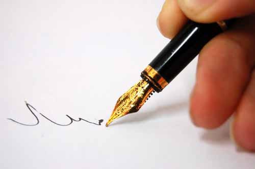 Pemalsuan tandatangan (ilustrasi)