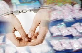 Ilustrasi penangkapan pengguna narkoba.