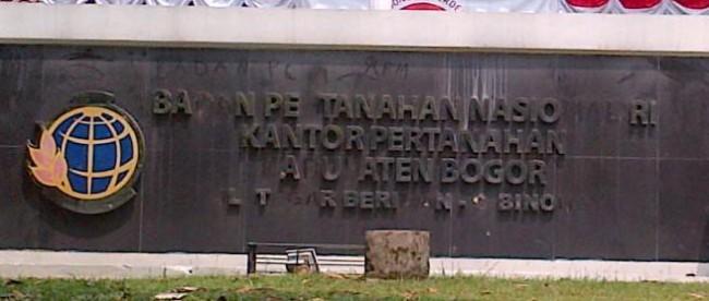 Kantor BPN Kabupaten Bogor, Cibinong.