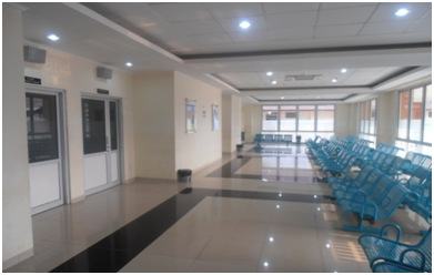 Ruang tunggu pasien di RSUD Cibinong