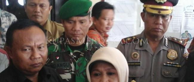 Bupati Bogor, Hj Nurhayanti dalam kunjungannya ke Ciampea, Kamis 12/11