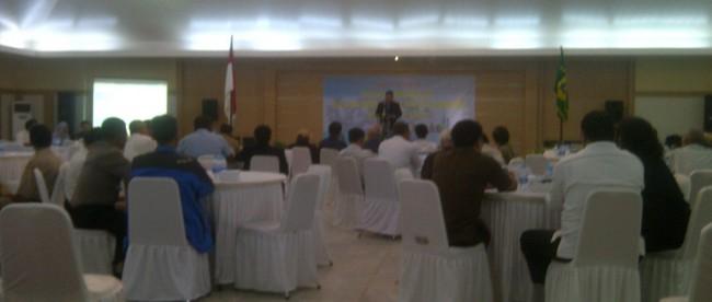 Diskusi publik tentang infrastruktur di gedung Setda II Kab. Bogor, Cibinong.