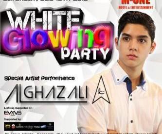 Poster promosi White Glowing Party di M-One dengan DJ Al Ghazali. (dok. M-One)