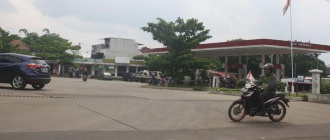 SPBU di Jalan Tegar Beriman, Cibinong, milik Korpri Kabupaten Bogor. (dok. KM)