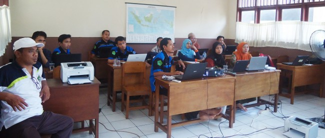 Pelatihan kepala Madrasah dan Operator yang diadakan oleh KKMI Tajurhalang, Sabtu (16/1) (dok. KM)