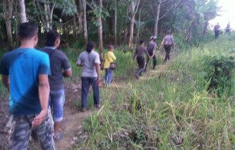 Penyisiran terhadap aktivitas Gafatar yang dilakukan oleh tim gabungan aparat di Kabupaten Kapuas Hulu, Kalimantan Barat (dok. KM)