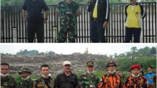 Perwakilan dari institusi-institusi serta Sekber Ormas Bogor Barat yang ikut serta dalam acara Kerja Bakti untuk pembuatan LTH di TPA Galuga, Jumat 11/3 (dok. KM)
