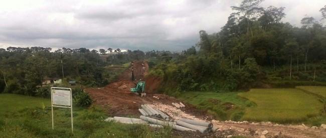 Proyek Tol Bogor-Ciawi-Sukabumi atau Bocimi, yang tengah digarap (dok. KM)