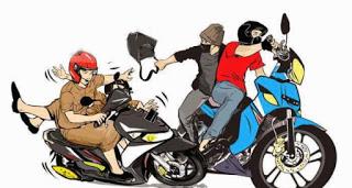 Ilustrasi perampok bersepeda motor