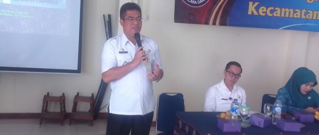 Camat Tapos, Muchsin Mawardi paparkan program kecamatan Tapos, Depok (dok. KM)