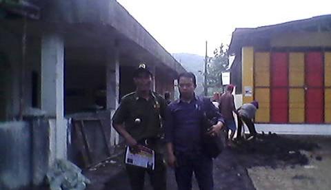 Pembangunan jalan lingkungan di desa Bunar, Cigudeg, Bogor (dok. KM)