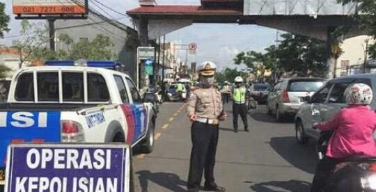 Operasi Patuh 2016 di bilangan Jalan Margonda, Depok (dok. KM)
