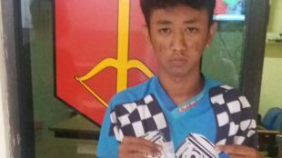 Andre (18), pelajar SMA bandar sabu yang diciduk Polsek Parung pada Kamis malam 30/6 lalu (dok. KM)