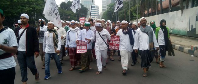 Massa dari ormas Islam yang ikut serta dalam demo