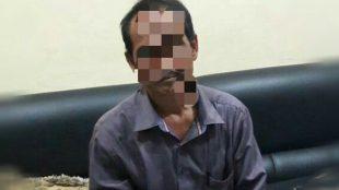Wartawan tersangka pemerasan saat ditahan di Polsek Bogor Utara, Kota Bogor Rabu 17/5 (dok. KM)