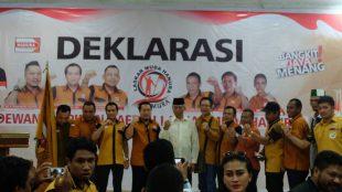 Deklarasi DPD Laskar Muda Hanura (LASMURA) Maluku Utara (dok. KM)