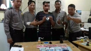 Oknum PNS yang terlibat narkoba ditemukan dengan sabu dan uang jutaan rupiah (dok. KM)