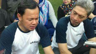 Walikota Bogor Bima Arya bersama calon wakilnya Dedie Rachim di Sempur, 7/1/2018 (dok. KM)