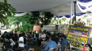 Insan Pers bersama tamu undangan saat penutupan acara HPN di Gedung PWI Kota Bogor, Kamis 1/3 (dok. KM)