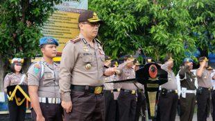 Kapolresta Bogor Kombes Pol Ulung Sampurna Jaya saat memimpin apel Operasi Keselamatan Lodaya, Kamis 1/3/2018 (dok. KM)