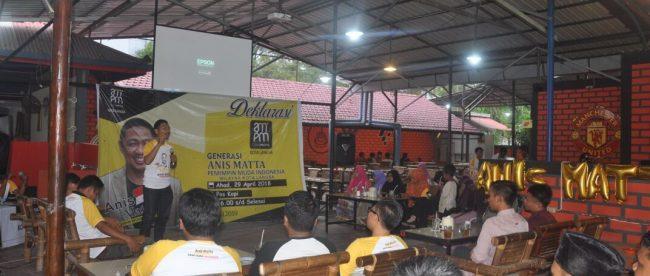 Deklarasi Relawan Gen AMPM Kota Langsa, Minggu 29/4 (dok. KM)
