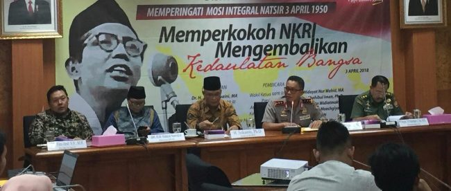 Narasumber dalam diskusi kebangsaan di ruang Fraksi PKS DPR, Kompleks Parlemen, Jakarta, Selasa 3/4 (dok. KM)
