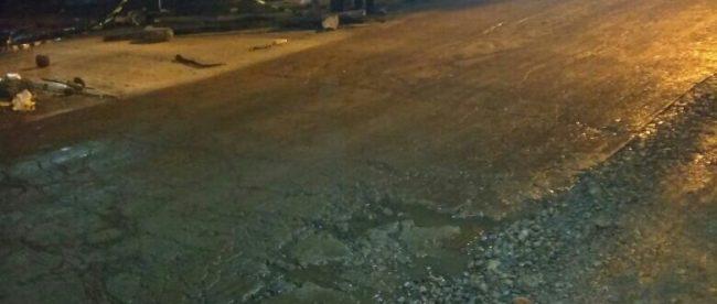 Hasil pekerjaan betonisasi di Jalan Raya Kali Abang, Kecamatan Bekasi Utara, Kota Bekasi (dok. KM)
