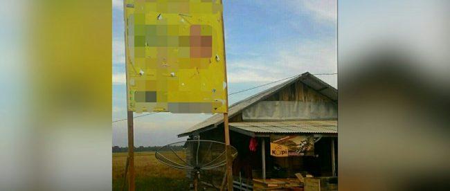Baliho bacaleg di Aceh Timur (dok. KM)