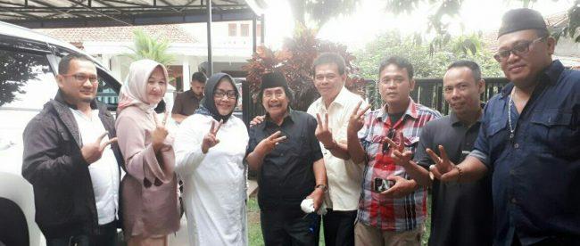 Artis dangdut tersohor Ibu Kota H. Jaja Miharja mendukung pasangan calon Bupati dan Wakil Bupati Ade Yasin-Iwan Setiawan (HADIST), Kamis 26/04/2018 (Dok. KM)