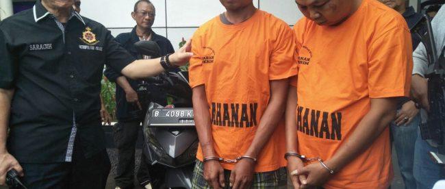 Pelaku curanmor yang berhasil diamankan Polres Metro Bekasi Kota, Rabu 23/5 (dok. KM)