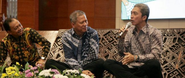 Calon Wakil Walikota Bogor Dedie Rachim saat hadiri buka puasa bersama alumni ITB, Senin 28/5 (dok.KM)