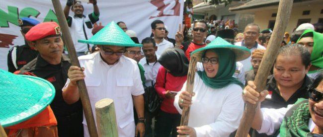 Paslon Bupati Bogor Ade Yasin-Iwan Setiawan (HADIST) lakukan kegiatan tradisional