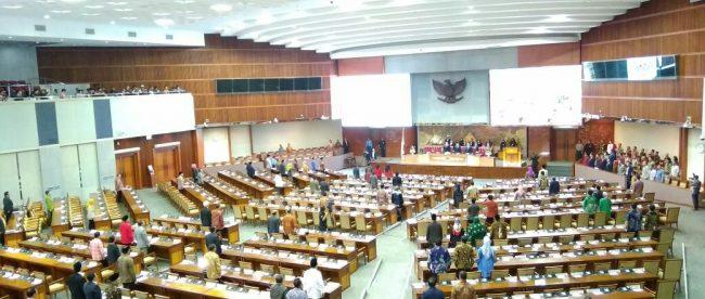 Suasana Ruang Rapat Paripurna DPR RI, Jumat 25/5 (dok. KM)