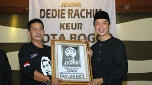 Calon Wakil Walikota Bogor Dedie A Rachim Bersama Ketua Relawan JEDER Juanda (dok.KM)
