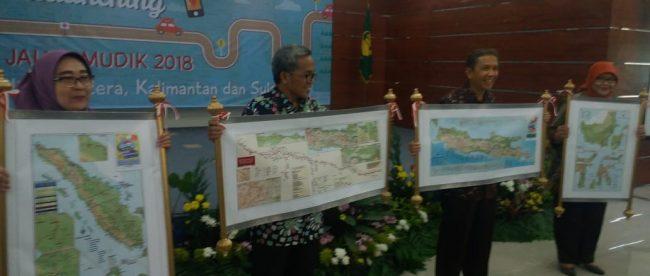 Peluncuran Atlas Jalur Mudik 2018 oleh Badan Informasi Geospasial (BIG) di LIPI Bogor, Rabu 30/5 (dok. KM)