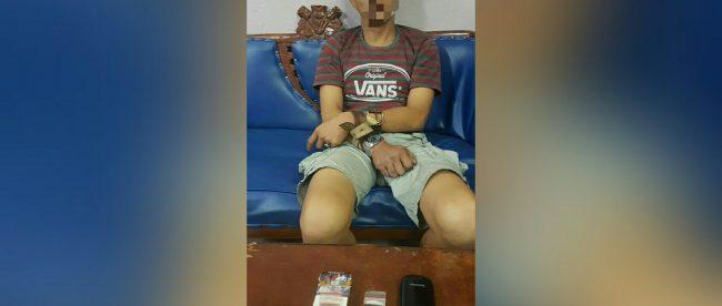 Tersangka pengedar narkoba yang ditangkap Polsek Mandau Jumat 18/5 (dok. KM)