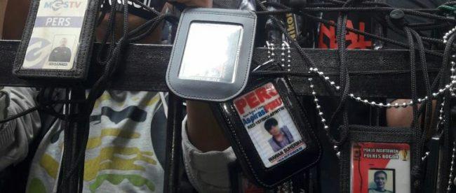 Aksi unjuk rasa wartawan di Maoplresta Bogor Kota, Sabtu 2/6/2018 (dok. KM)