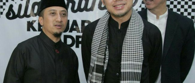 Ustadz Yusuf Mansur bersama calon Walikota dan Wakil Walikota Bogor Bima Arya dan Dedie Rachim (dok. KM)