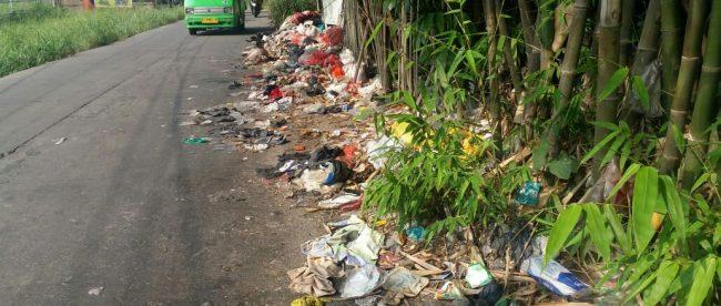 Tumpukan sampah yang berserakan di sepanjang jalan Bojong Gede-Cilebut (dok. KM)