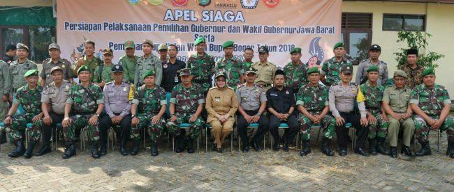 Peserta apel siaga Pilkada di Kecamatan Tajurhalang, Bogor, Minggu 24/6 (dok. KM)