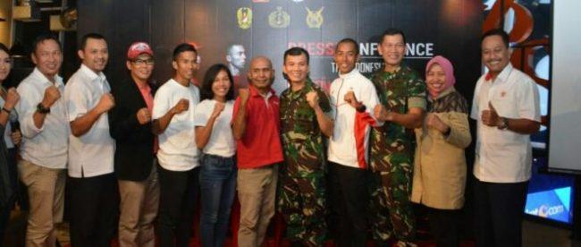 Konferensi pers 'The Indonesian National Armed Forces International Marathon' di kawasan FX Senayan, Selasa (26/6) yang akan digelar di Kawasan Ekonomi Khusus Kuta Beach, The Mandalika, Lombok, Nusa Tenggara Barat pada 23/9/ 2018 mendatang.
