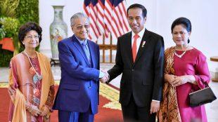 Presiden Joko Widodo bersama Perdana Menteri Malaysia Mahathir Mohamad di Istana Bogor, 29/6/2018 (dok. KM)