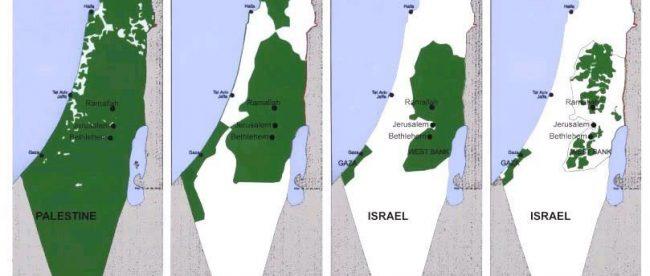 Perebutan wilayah Palestina oleh Israel sejak 1946 (stock)