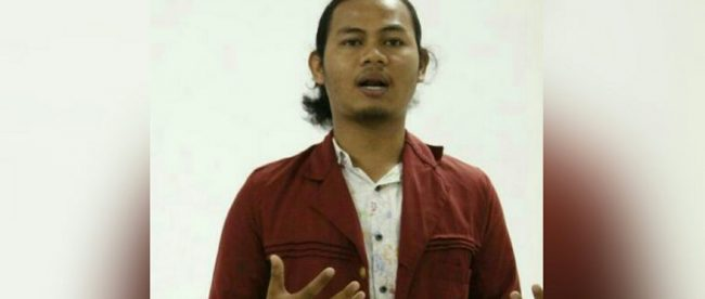 Presma BEM STKIP Muhammadiyah, Bogor, Iksan Awaludin (dok. KM)