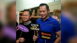 Calon Walikota Bogor Bima Arya Sugiarto bersama Agus Harimurti Yudhoyono saat mengunjungi salah satu pusat perbelanjaan di Kota Bogor, Jumat 22/6 (dok.KM)