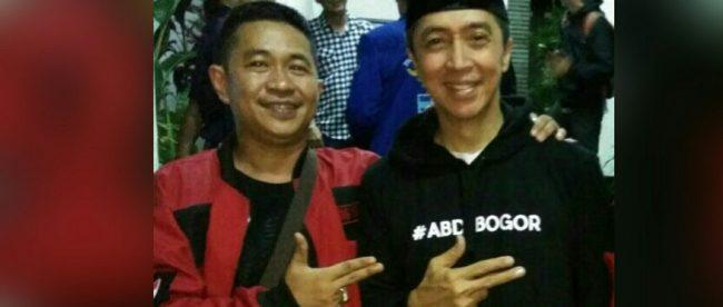 Calon Wakil Walikota Bogor Dedie A. Rachim bersama ketua relawan JEDER, Juanda (dok. KM)