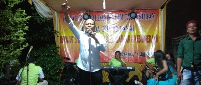 Robet, tokoh masyarakat Bekasi Utara, mengadakan acara halal bihalal dan tasyakuran kemanangan Walikota Bekasi terpilih Rahmat Effendi-Tri Adhianto (dok. KM)