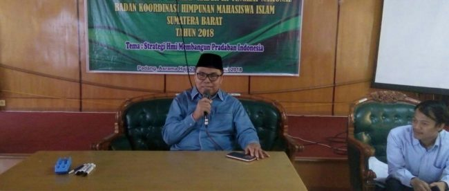Anggota Komisi IV DPR RI, Hermanto, saat memberikan keterangan pers di Padang, Sumbar, 4/7/18 (dok. KM)
