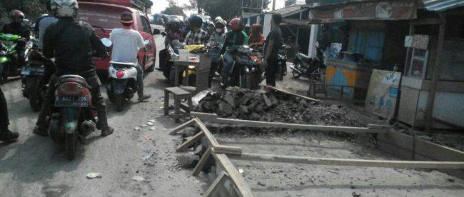 Proyek peningkatan jalan raya Ciapus-Kotabatu di Kabupaten BOgor (dok. KM)