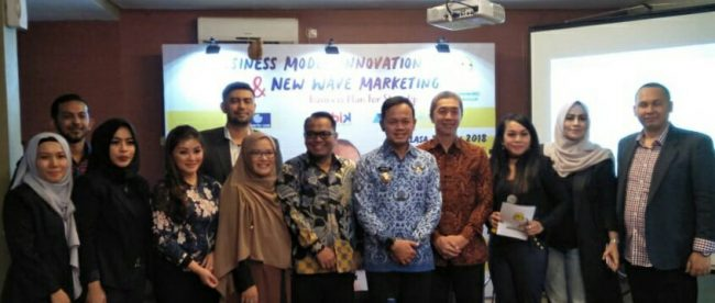 Walikota Bogor Bima Arya dan Wakil Walikota Bogor Terpilih Dedie Rachim saat menghadiri acara HIPMI di Restoran Bumi Aki, Kota Bogor 17/7/2018 (dok. KM)